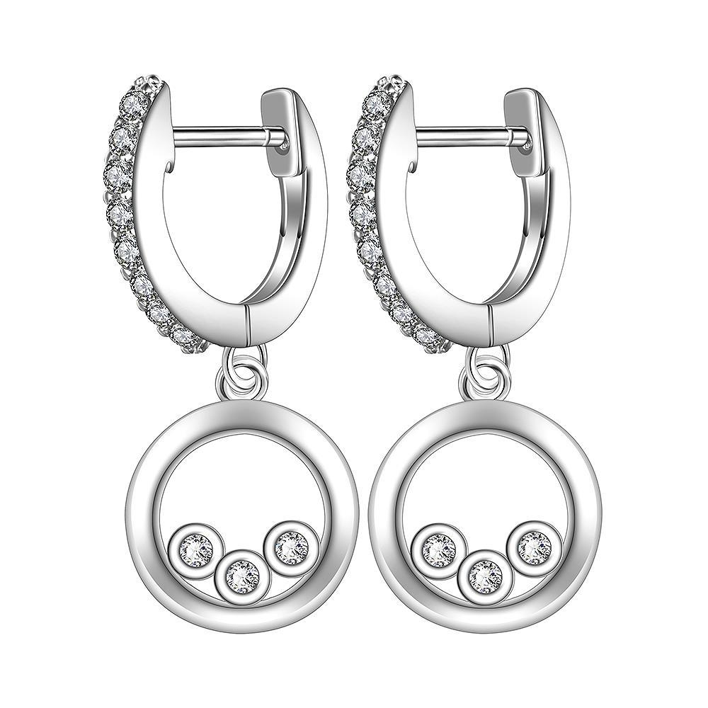 Vienna Jewelry Sterling Silver Drop Clasp Earring