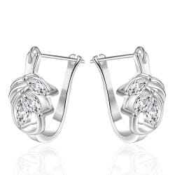 Vienna Jewelry Sterling Silver U Hook Elegant Earring - Thumbnail 0