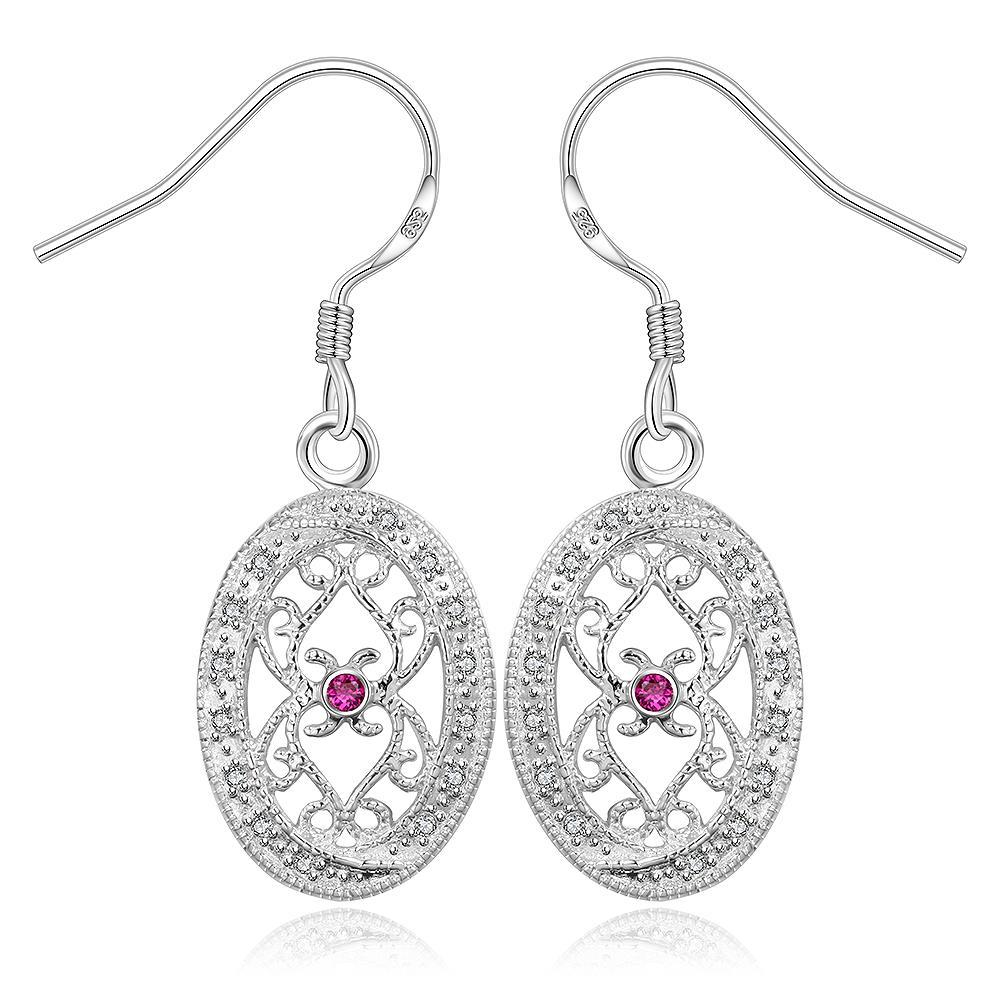 Vienna Jewelry Sterling Silver Hollow Curved Design Drop Earring