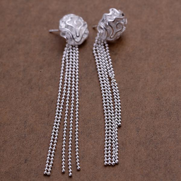 Vienna Jewelry Sterling Silver Linear Chandelier Drop Earring