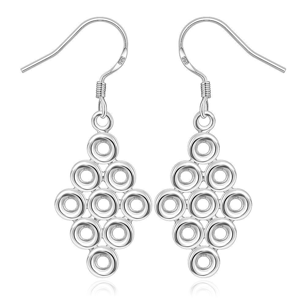 Vienna Jewelry Sterling Silver Circular Orchid Drop Earring
