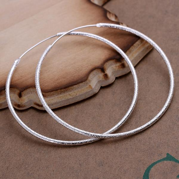 Vienna Jewelry Sterling Silver Large Circular Hoops