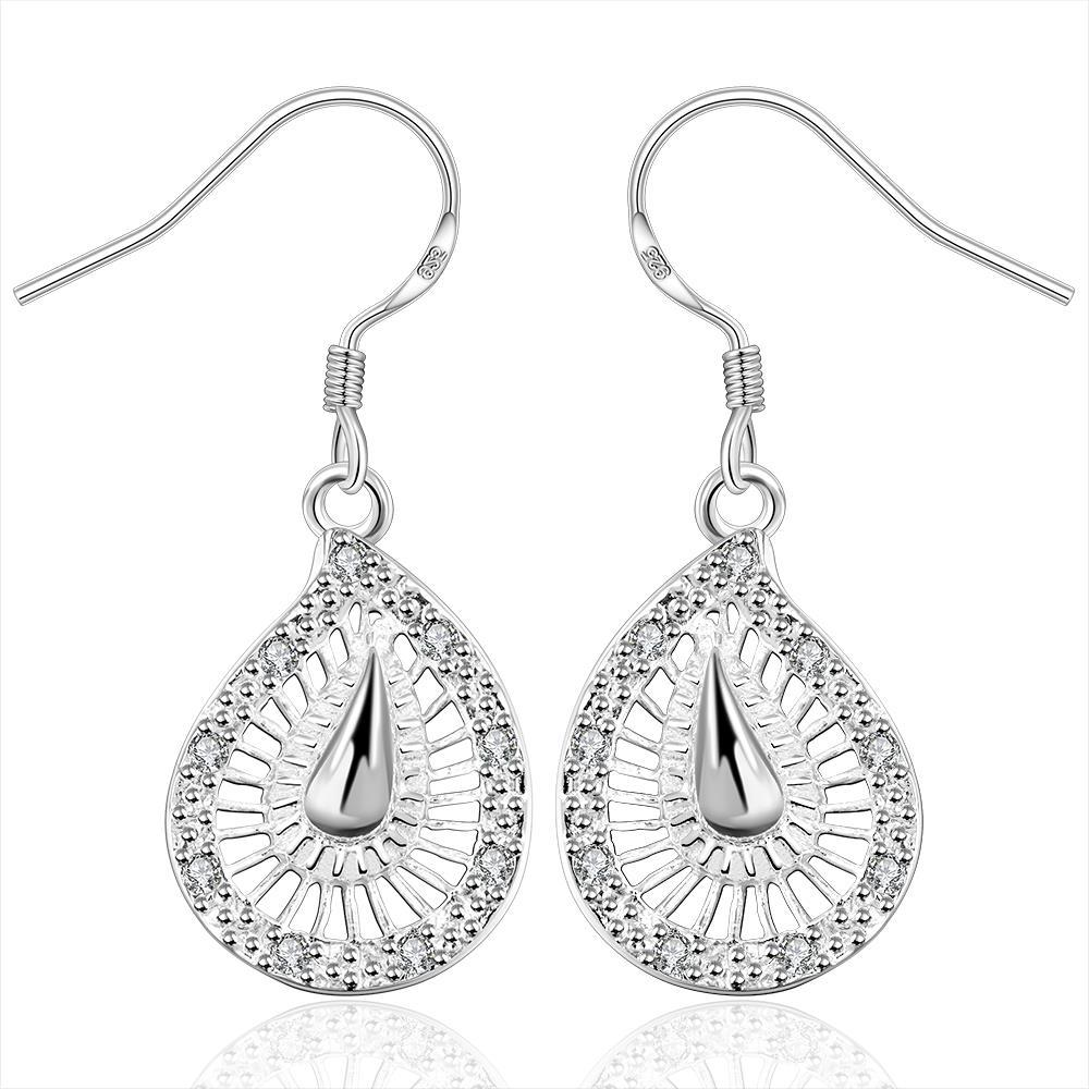 Vienna Jewelry Sterling Silver Laser Cut Spiral Drop Earring
