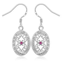 Vienna Jewelry Sterling Silver Hollow Curved Design Drop Earring - Thumbnail 0