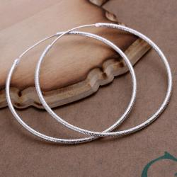 Vienna Jewelry Sterling Silver Large Circular Hoops - Thumbnail 0