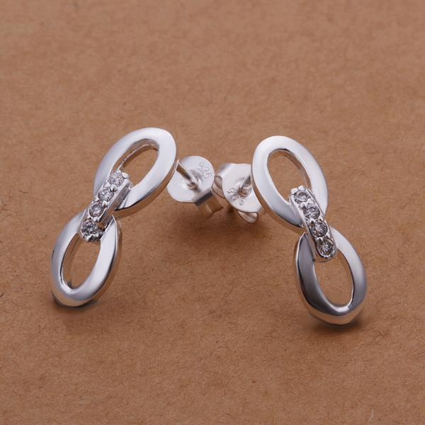Vienna Jewelry Sterling Silver Duo-Oval Shaped Stud Earring