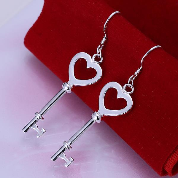 Vienna Jewelry Sterling Silver Heart Shaped Keychain Earring
