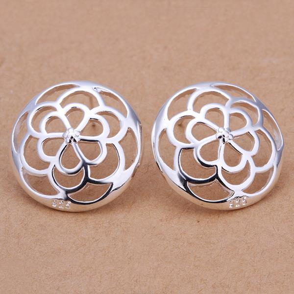 Vienna Jewelry Sterling Silver Filigree Clover Stud Earring