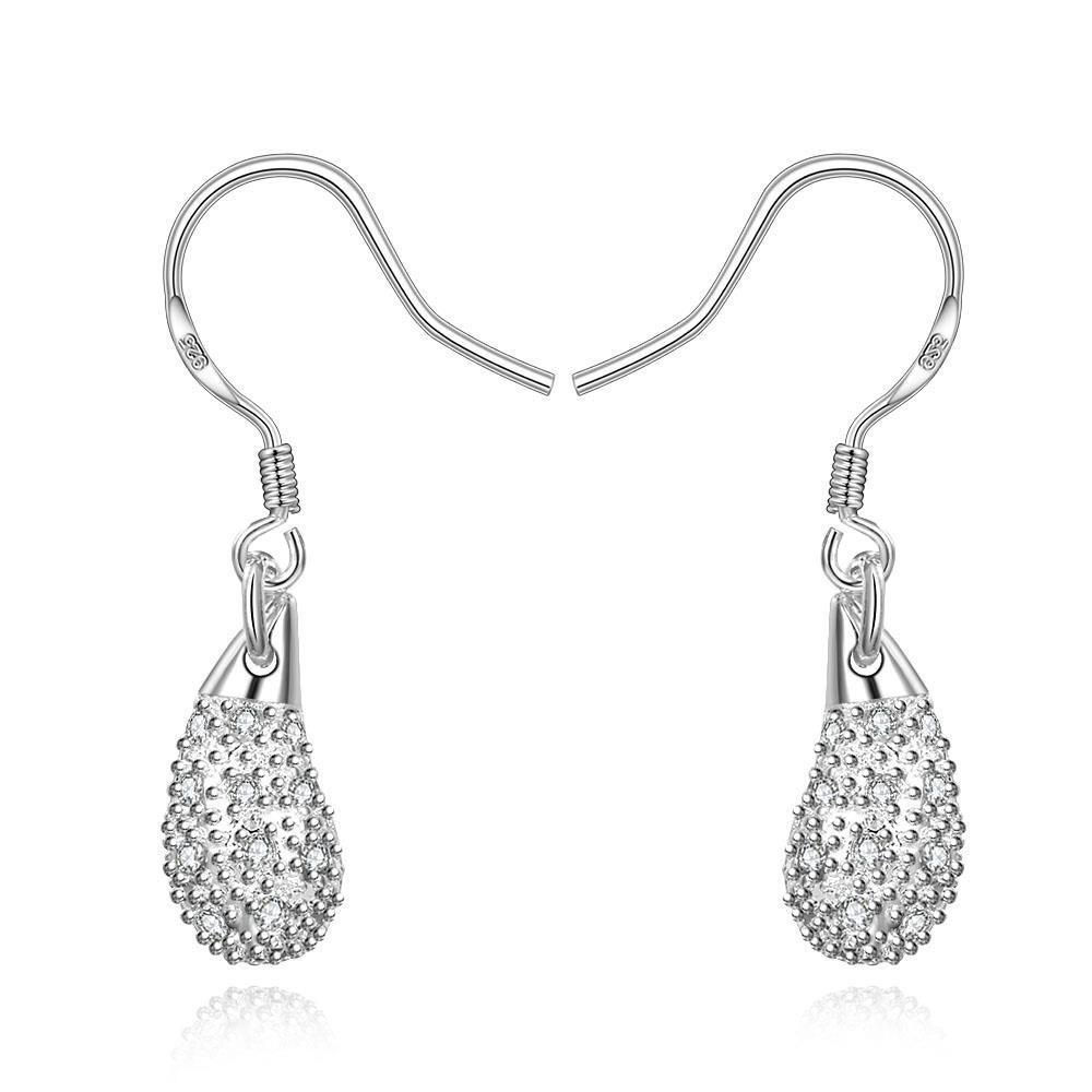 Vienna Jewelry Sterling Silver Tear Drop Design Drop Earring