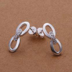 Vienna Jewelry Sterling Silver Duo-Oval Shaped Stud Earring - Thumbnail 0