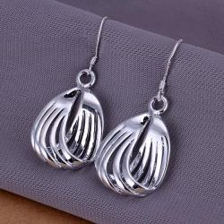 Vienna Jewelry Sterling Silver Sea-Shell Laser Cut Earring - Thumbnail 0
