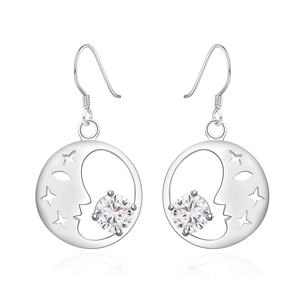 Vienna Jewelry Sterling Silver Good Night World Earring