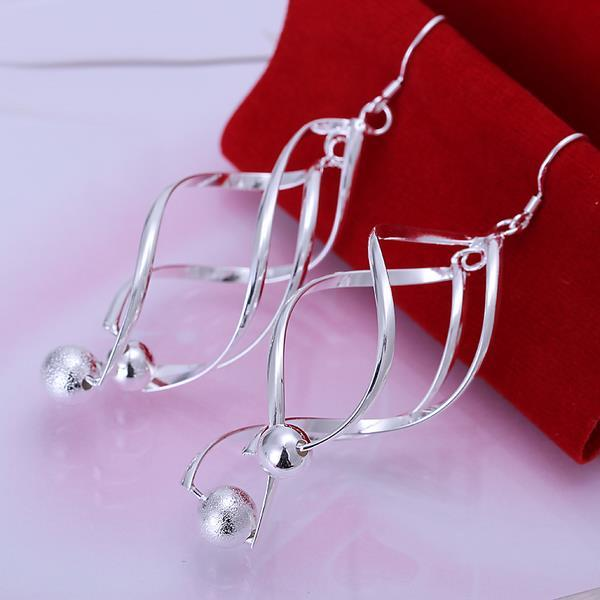 Vienna Jewelry Sterling Silver Interlocking Spiral Earring with Pearls