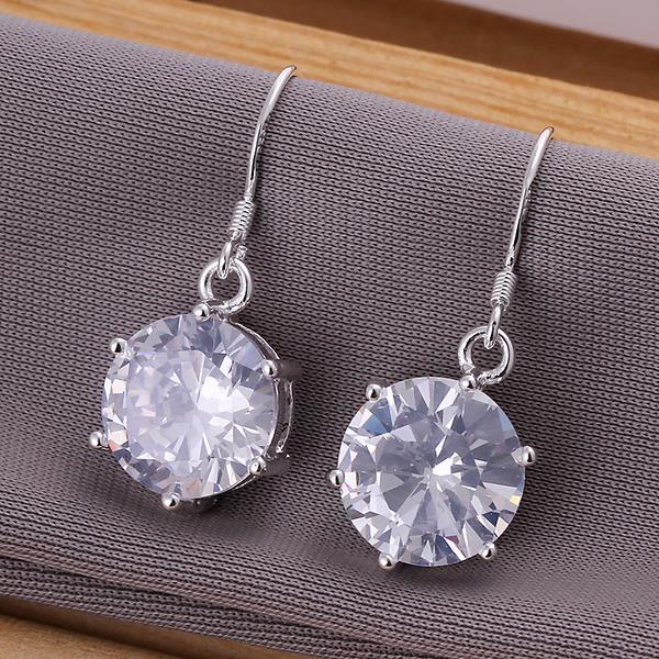 Vienna Jewelry Sterling Silver Classic Crystal Earring
