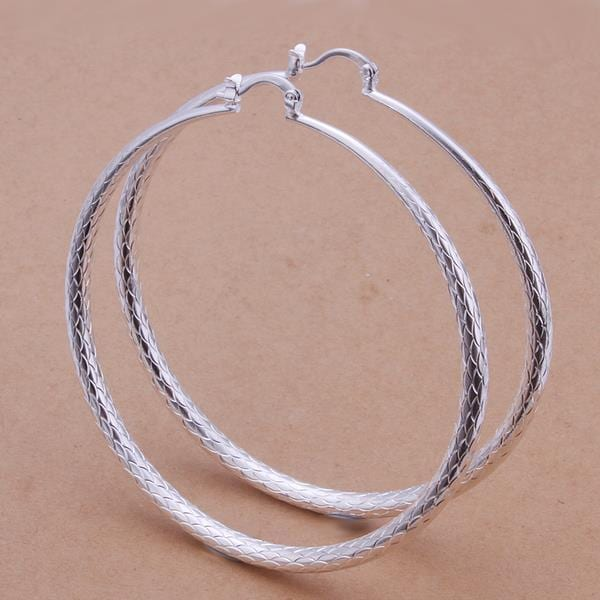 Vienna Jewelry Sterling Silver Large Gap Classic Hoops