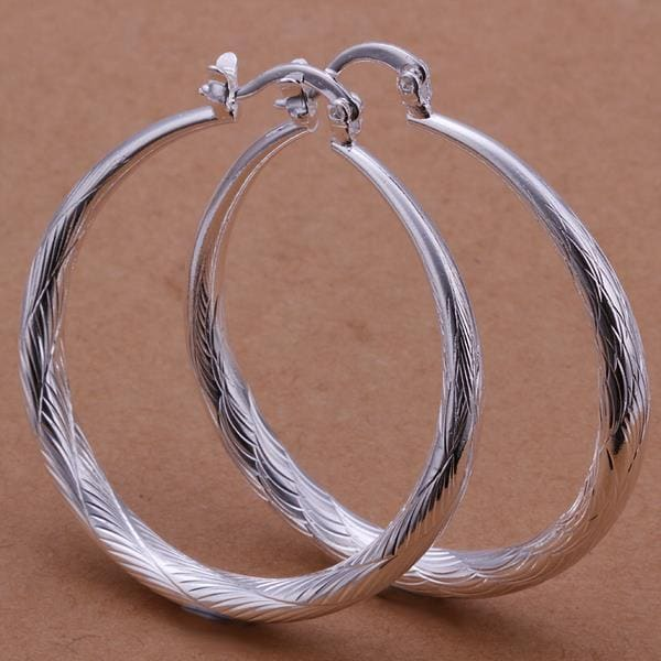Vienna Jewelry Sterling Silver Downtown Abbey Inspired Hoops
