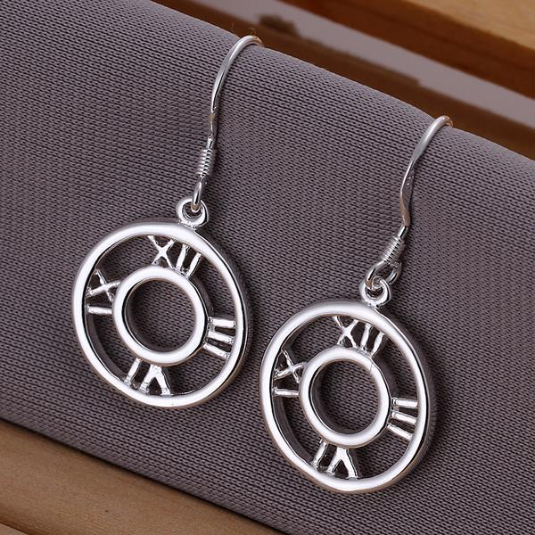 Vienna Jewelry Sterling Silver Roman Numerals Drop Earring