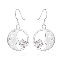 Vienna Jewelry Sterling Silver Good Night World Earring - Thumbnail 0