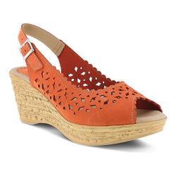 Women's Spring Step Chaya Wedge Sandal Orange Nubuck