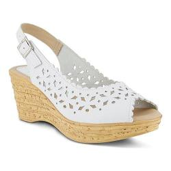 Women's Spring Step Chaya Wedge Sandal White Leather