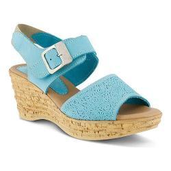 Women's Spring Step Mitu Quarter Strap Sandal Turquoise Nubuck