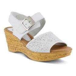 Women's Spring Step Mitu Quarter Strap Sandal White Leather