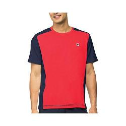 Men's Fila Heritage Color Blocked Crew Chinese Red/Peacoat