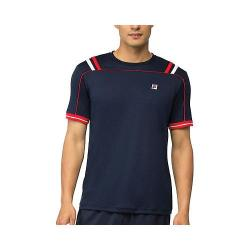 Men's Fila Striped Heritage Crew Peacoat Chinese Red/White