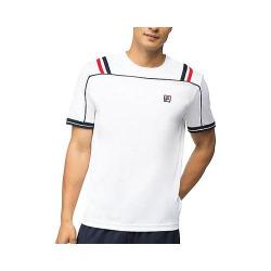 Men's Fila Striped Heritage Crew White/Peacoat/Chinese Red