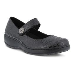 Women's Spring Step Roses Mary Jane Black Manmade