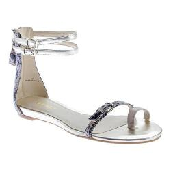 Women's Nine West Onque Toe Loop Sandal Light Natural Multi Synthetic