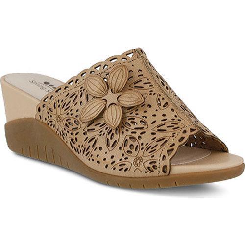 23205607af4 Shop Women s Spring Step Togo Slide Beige Leather - Free Shipping Today -  Overstock.com - 11455815