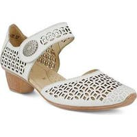 Women's Spring Step Macaw Closed Toe Sandal White Leather