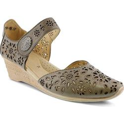 Women's Spring Step Nougat Closed Toe Sandal Gray Leather