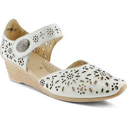 Women's Spring Step Nougat Closed Toe Sandal White Leather