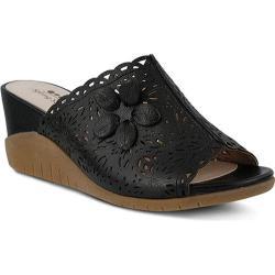 Women's Spring Step Togo Slide Black Leather
