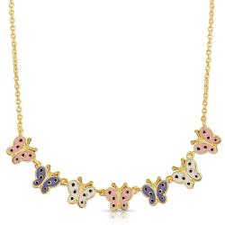 Lily Nily Girl's Butterfly Links Necklace