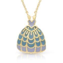 Lily Nily Girl's Princess Dress Necklace - Blue