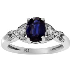 Journee Collection Sterling Silver Kyanite Topaz Accent Ring