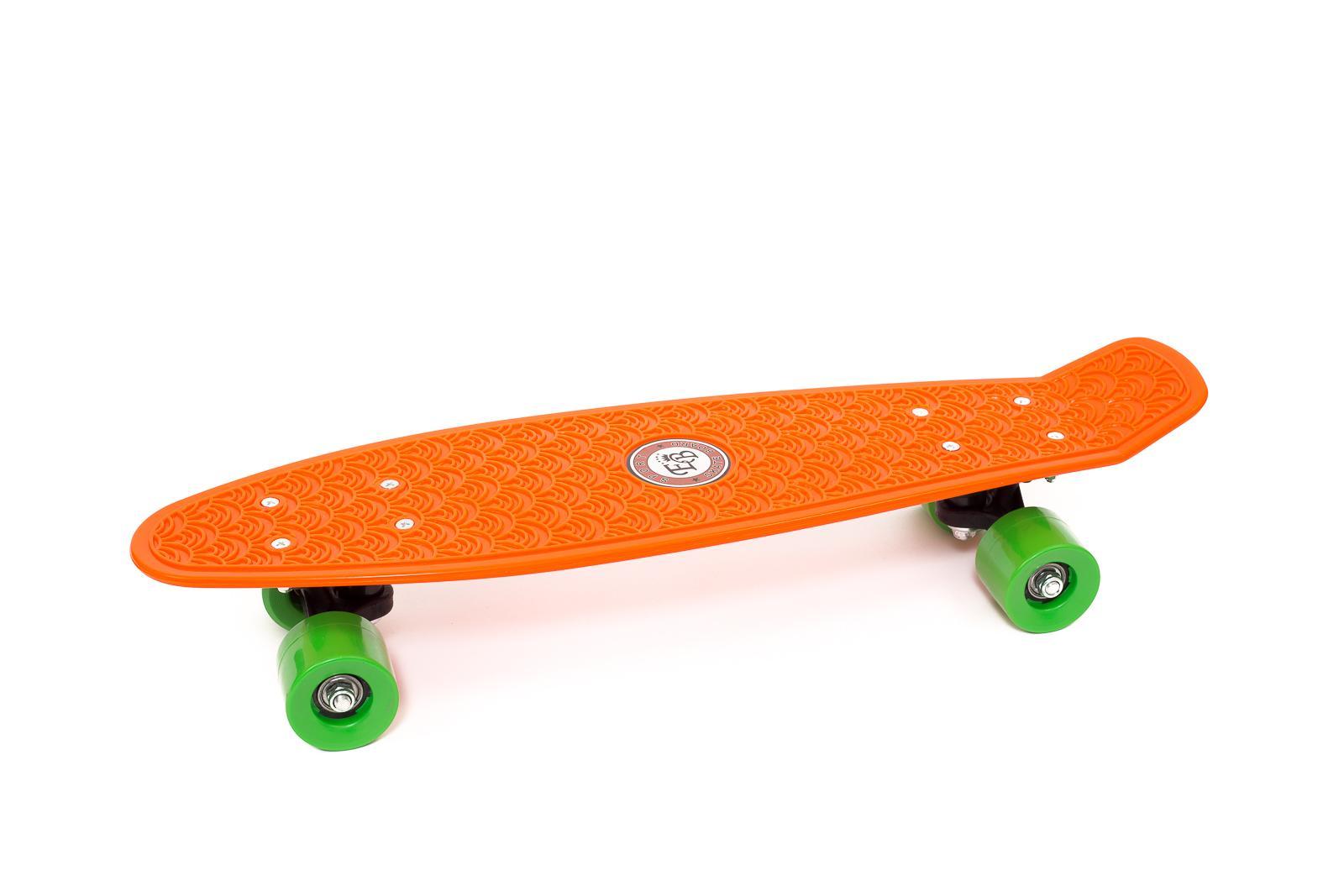 "Skateboard Penny Retro 22"" Standard Board Mini Street Cruiser Complete Orange"