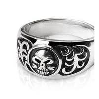 Stainless Steel Ring with Skull Design