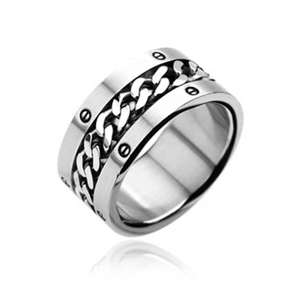 Stainless Steel Ring with Chain Center Bolted Ring