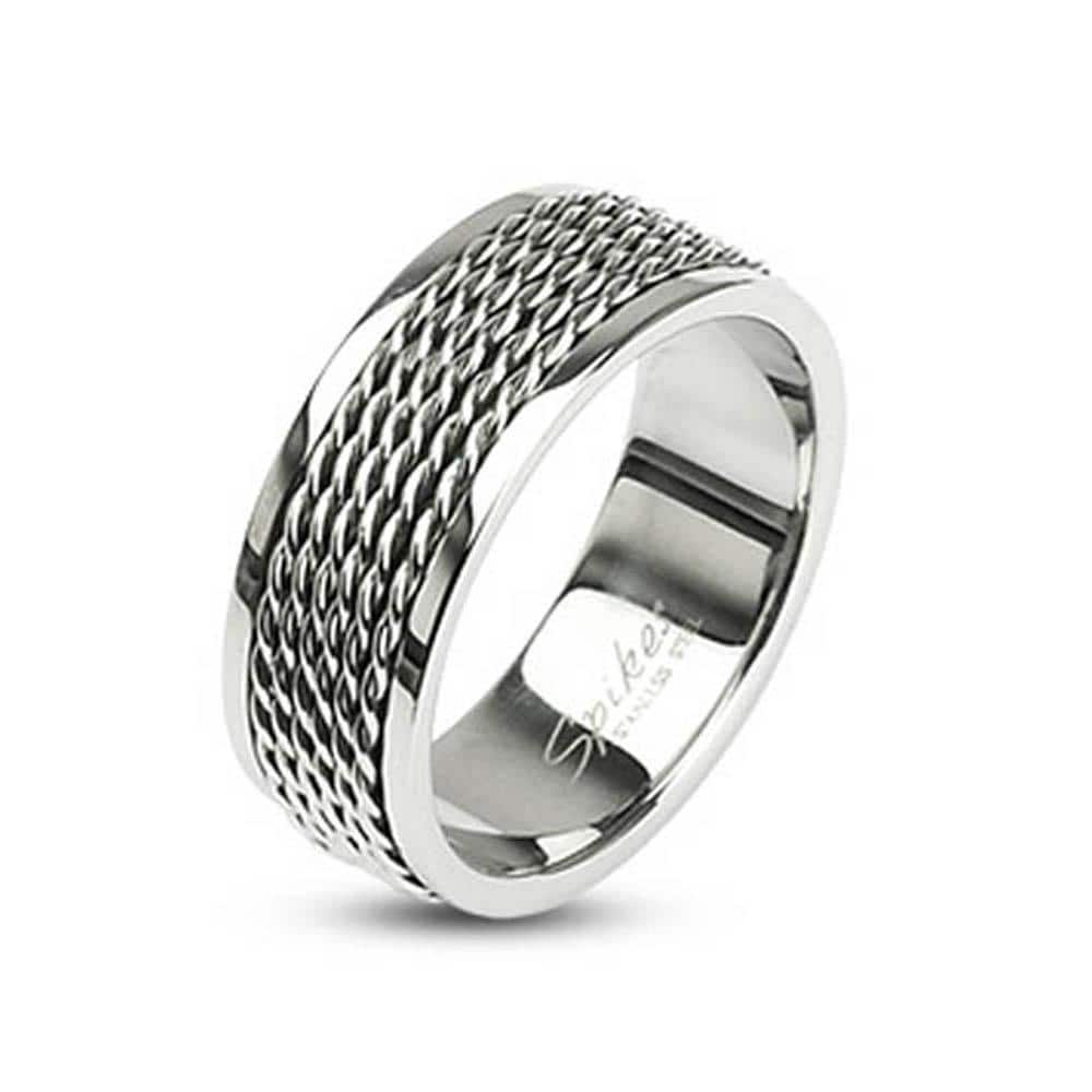 Stainless Steel Chain Links Loop Center Ring