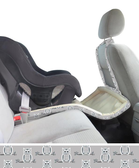 Catchie Concepts 3-in-1 Infant Baby Toddler Toy Catch Mat Carseat Protector Seat Liner- Kenedy - Grey