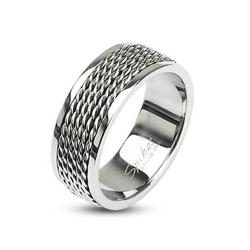 Stainless Steel Chain Links Loop Center Ring - Thumbnail 0