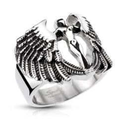 Stainless Steel Archangel Goddess Cast Ring - Thumbnail 0