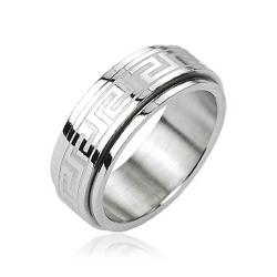 Stainless Steel Tribe Maze Center Spinner Ring