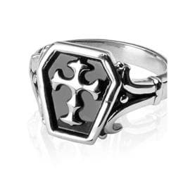 Stainless Steel Ring with Celtic Cross - Thumbnail 0