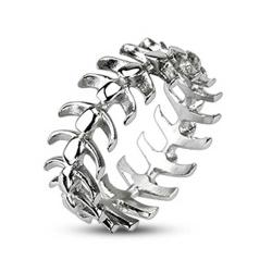 Stainless Steel Vertebrae Looped Bone Cast Ring