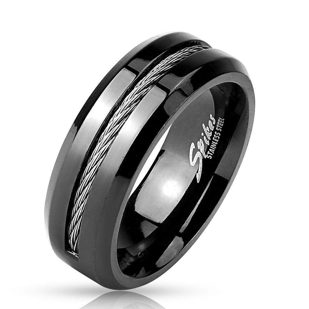 Cable Center Black IP Stainless Steel Ring